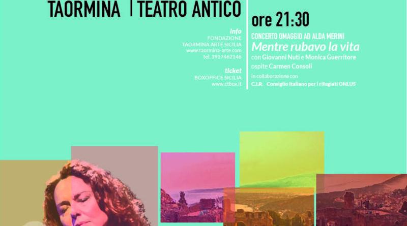 Monica Guerritore al Teatro Antico di Taormina il 10 agosto con due eventi.