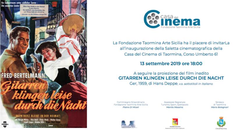 Nuova saletta cinematografica a Taormina