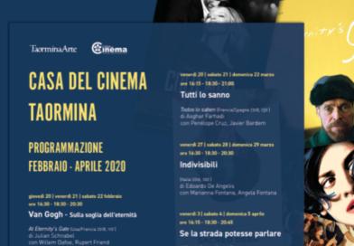 Casa del Cinema di Taormina: Nuovi appuntamenti cinematografici